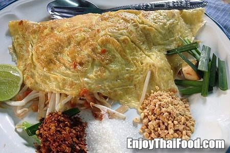 Pad Thai in an Omelette | Food: Thai | Pinterest