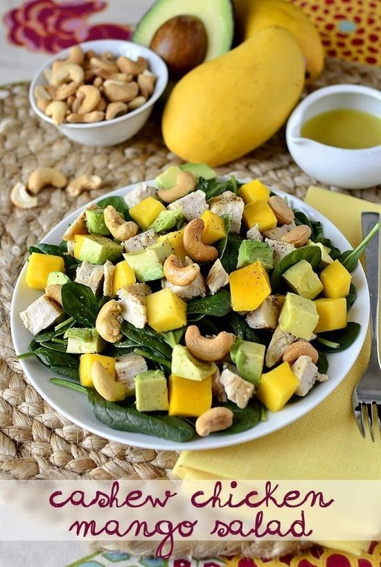 Chicken Mango Cashew Salad | THINGS TO EAT : Salads | Pinterest