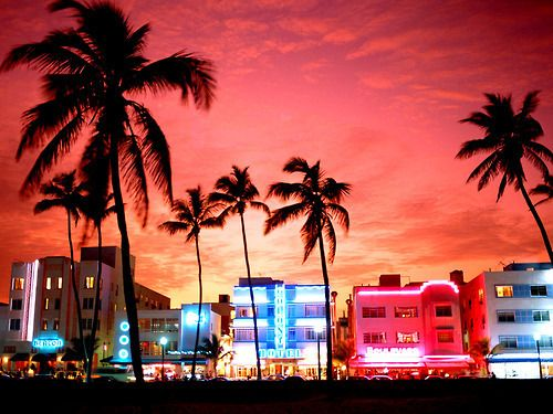 Miami's south beach. Stayed in one of these hotels last year. Can't wait to go back.