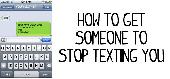 how to stop someone from texting you