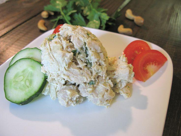 Cashew Chicken Salad- maybe apple cider vinegar instead of lemon?