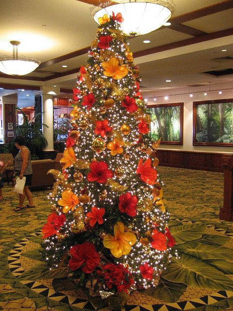 Hawaiian Christmas Tree Tropical Decor Pinterest