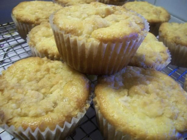 Sour Cherry Muffins With Coconut Streusel- used almond extract and ...