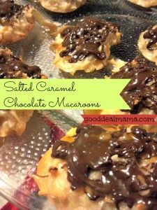 Salted Caramel Chocolate Coconut Macaroons