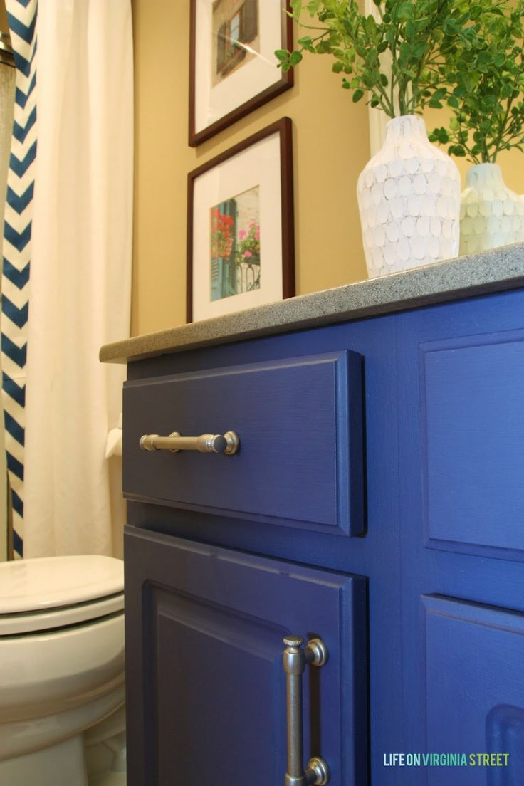 Bathroom Vanity Makeover Using Country Chic Paint