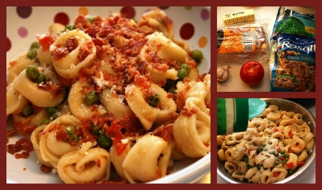 Brown Butter, Peas & Bacon Tortellini | Recipe