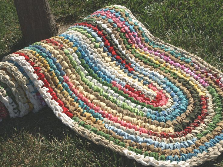 Crochet Rag Rug : Custom Made Crocheted Rag Rugs!! Crochet Weaving Sewing Macrame ...