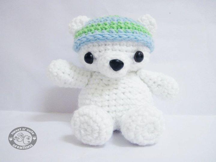 Amigurumi Baby Bear : Amigurumi Baby Polar Bear Crochet - Kids Toys Pinterest