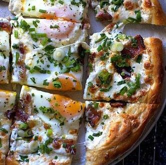 Breakfast pizza, with eggs and bacon | Favorite Recipes | Pinterest