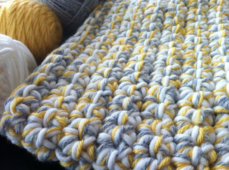yellow crochet baby blanket Crochet Pinterest