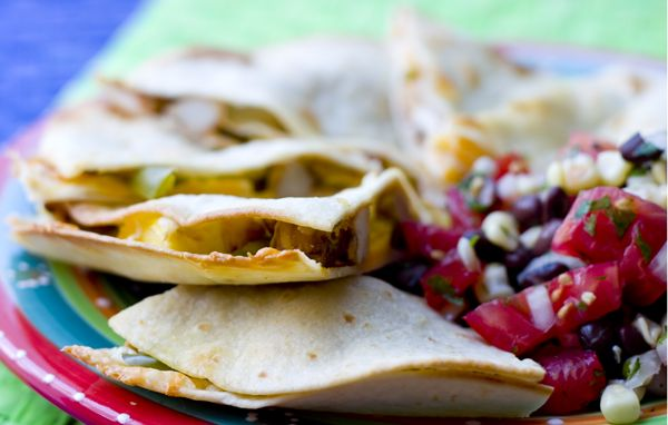 Hawaiian Barbecue Quesadillas and Black Bean Corn Salsa | Recipe