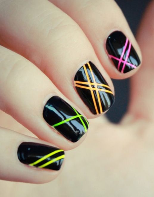 Nail Art Designs Using Striping Tape – Papillon Day Spa