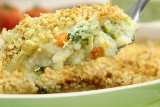 Creamy Chicken and Broccoli Rice Casserole | Recipe