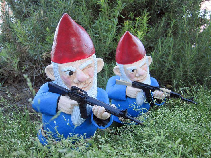 Garden gnomes armed dangerous definitely need to buy for Combat garden gnomes