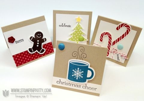 Quick little cards using new products from holiday mini