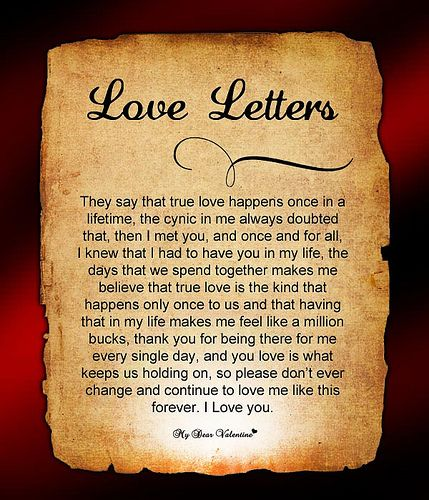 Cute Love Letters For Him