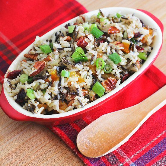Wild Rice Salad with dried fruits, pecans, and an orange-maple ...