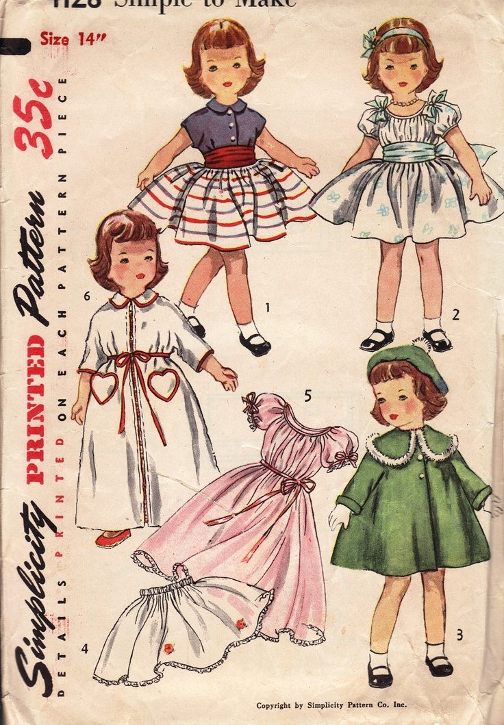 1950s Doll Patterns