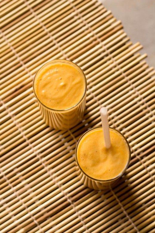 Refreshing Papaya Lassi flavored with Cardamom ... #vegan