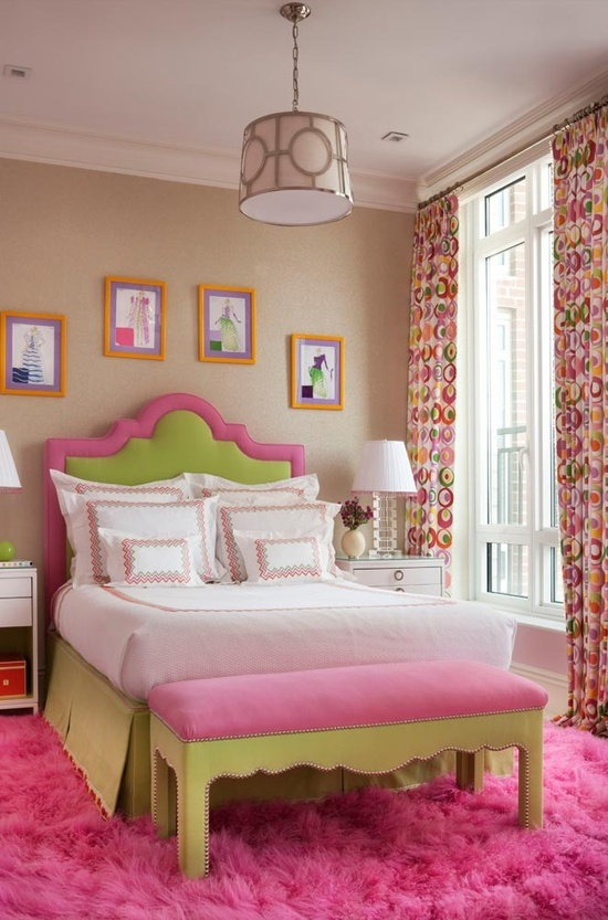 Pink And Green Bedroom Awesome Teen Spaces Pinterest