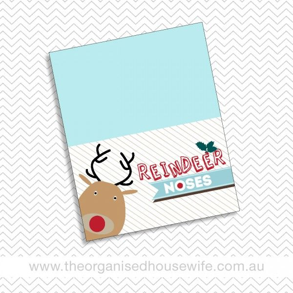 Free Printable Reindeer Nose Tags   Search Results ...