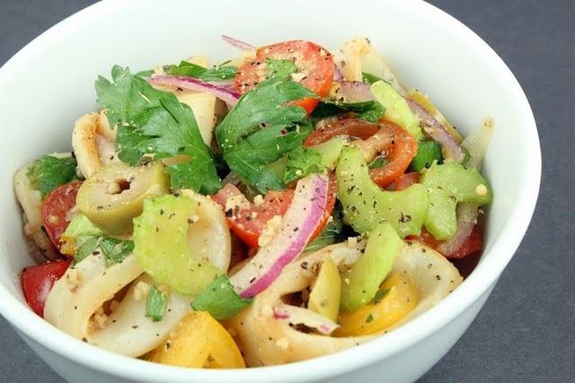 calamari salad | Yummies: Meals & Sides | Pinterest