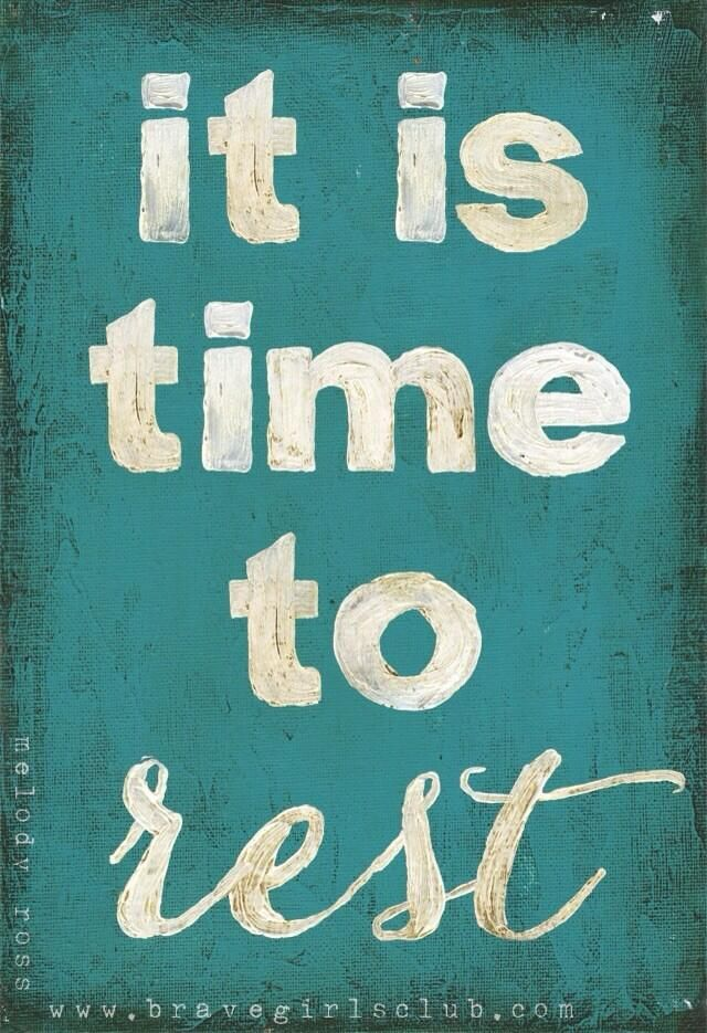 Twitter / actionhappiness: It is time to rest ...