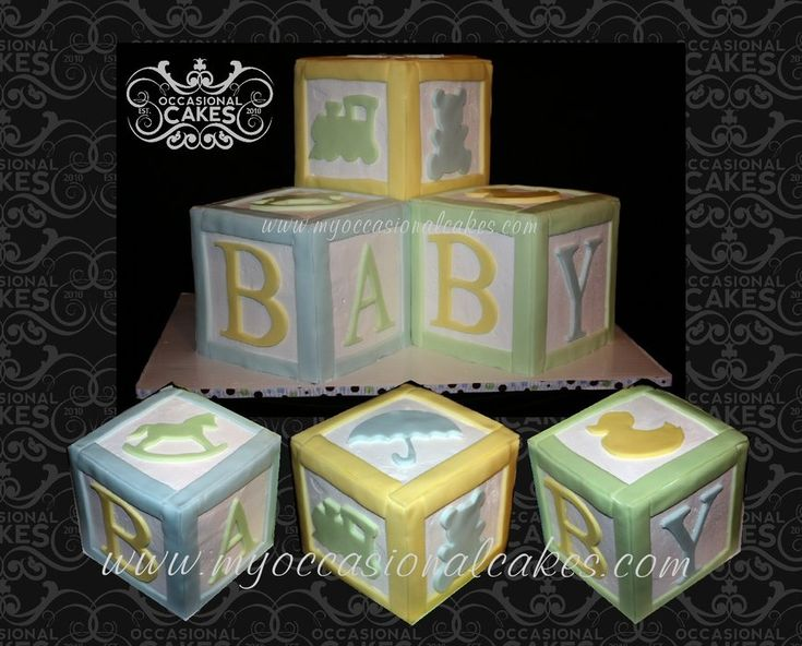 Baby Block Cake Images : Baby Blocks Cake