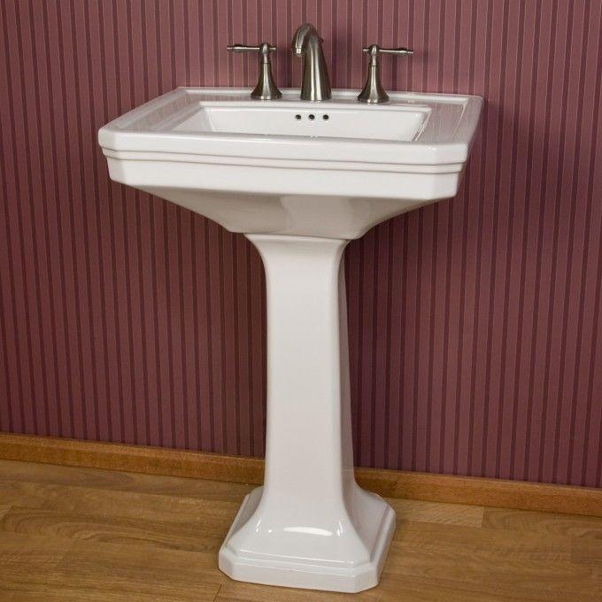 ... Pedestal Sink with 8