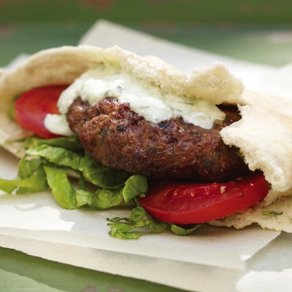 Greek Lamb Burger Recipe — Dishmaps