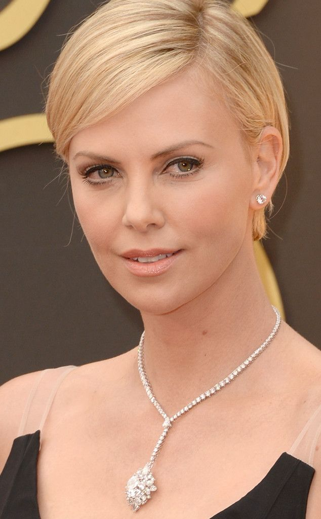 Charlize Theron 31ct Harry Winston diamond drop necklace worth 15 million!