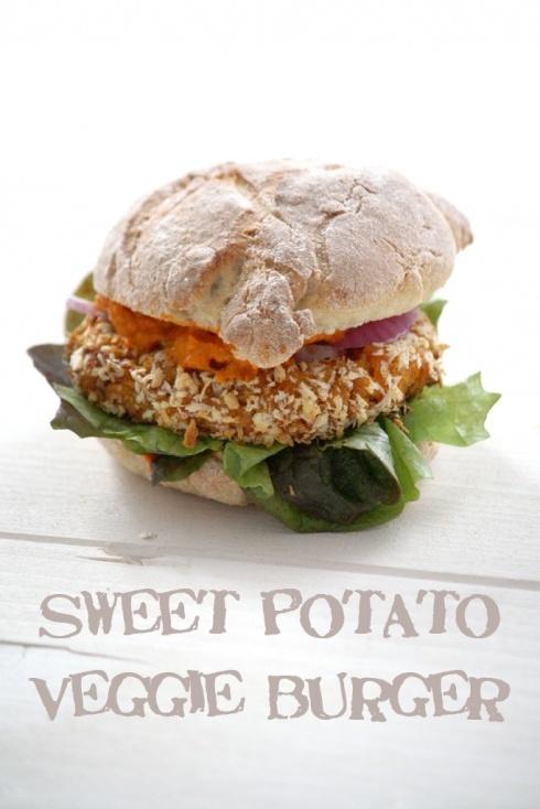 sweet potato veggie burger. #Cake