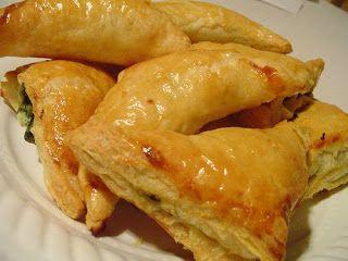 Spinach & Feta Puff Pastry (Spanakopita)   Greek Dishes   Pinterest