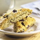 Glazed, tender buttermilk scones, flavored with crystallized ginger ...