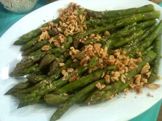 Emeril's Asparagus Salad with Walnut Oil Vinaigrette