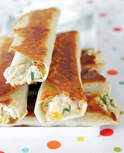 Chubby Chicken And Cream Cheese Taquitos Recipe — Dishmaps