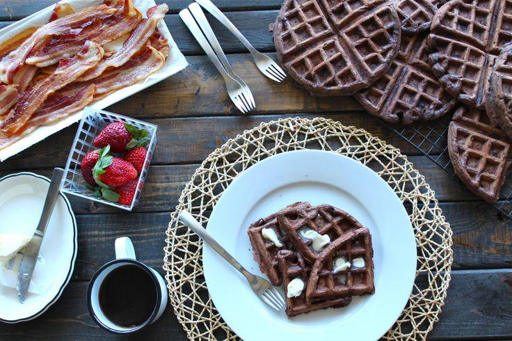 Dark Chocolate Waffles. Like woah. | Food: Thanks for the grub | Pint ...