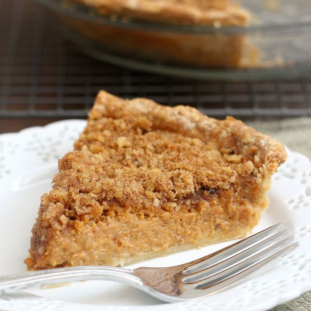 Pumpkin Pie with Brown Sugar-Walnut Topping by Tracey's Culinary ...