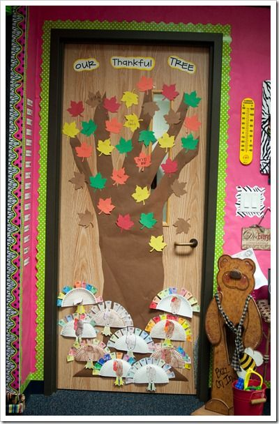 Classroom Door Decoration Ideas November : Thankful tree decorative classroom doors pinterest