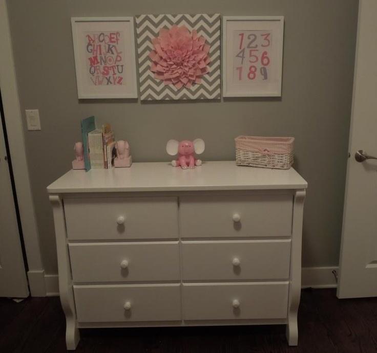 Grey And Pink Nursery Chambre Lilya Pinterest