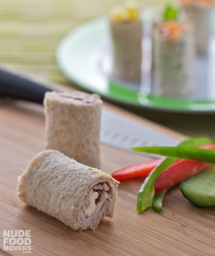 Turkey, cream cheese & cranberry sushi rolls - great Nude Food lunch ...