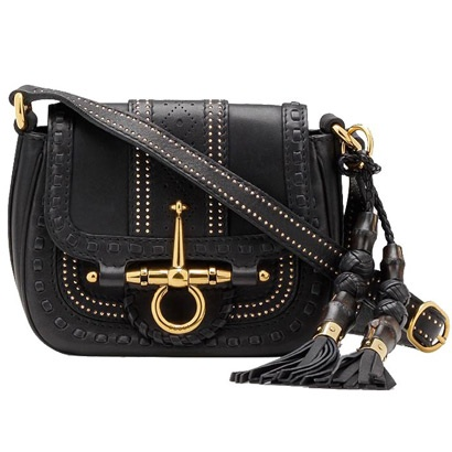 Gucci 263956 ANG0G 1000 Snaffle Bit Small Shoulder Bag Black [dl16557] - $260.89 : Gucci Outlet, Cheap Gucci online,Gucci UK