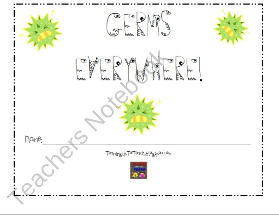 Germ mini unit from teaminguptoteach on teachersnotebook com 8 pages