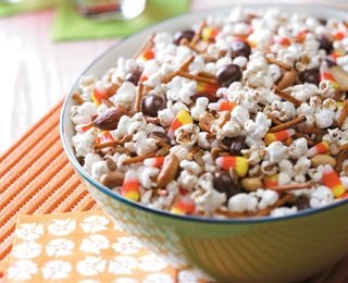 Yum! This Harvest Snack Mix is great to eat all season.