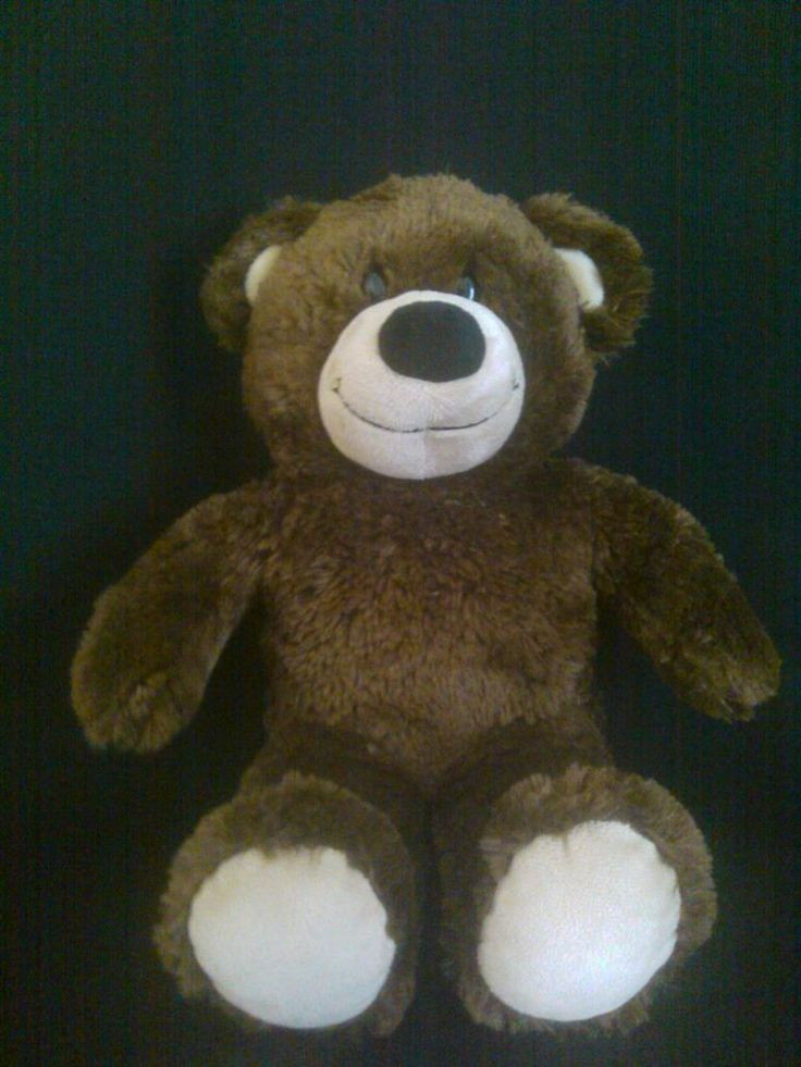BUILD-A-BEAR Brown Heartbeat Teddy Bear. Hug this Cute Bear and Hear His Heart Beat. Excellent Pre-Owned Condition! #9.99 obo (Free S&H)