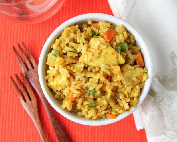 Curried Chicken & Veggie Brown Rice Bowl – Gluten Free | Recipe