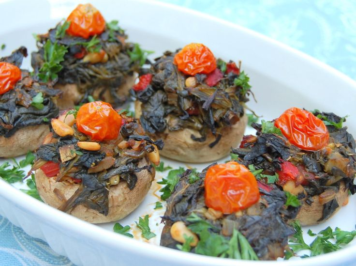 Spinach Stuffed Mushrooms (Vegan) - suitable for Dr. Oz's 2 Week Rapid ...