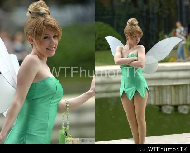 Cute Tinkerbell cosplay