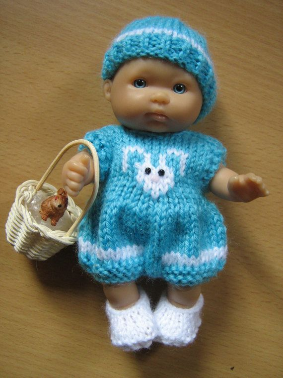 Knitting Patterns For 8 Berenguer Doll Clothes : Hand Knitted Outfit for 5