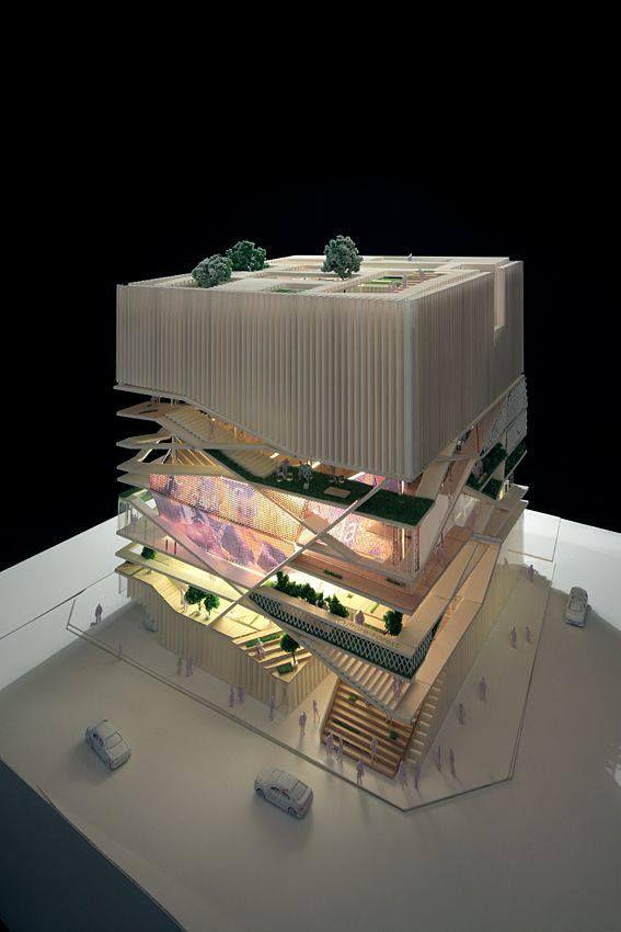 Architecture models representation pinterest for Architectural concept models